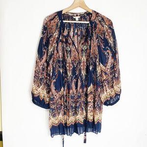 Cato blouse 18/20W Paisley